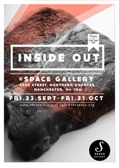 Space gallery poster design - graphic  - editorial - inside out