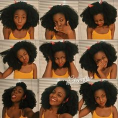 """www.hergivenhair.com BIG HAIR DON'T CARE!!! @westafricanbaby is super cute in coily texture 18"""", 20"""" & 22"""". Watch her video in YouTube by click the link in her bio."""