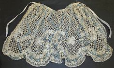Apron Date: ca. 1740 Culture: French Medium: silk, metallic thread