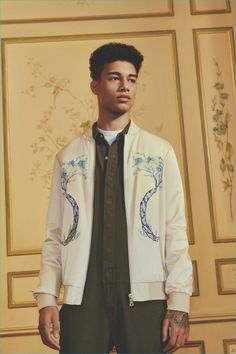 58177374 Forever 21 Men embraces the souvenir jacket trend with its pre-fall 2016  collection.