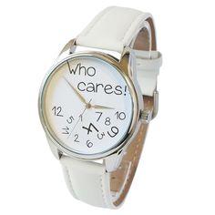 Who Cares! Watch | Wrist Watch for Him & Her | Handmade Men & Women Watches | Vintage Pattern Design Style | Accesories Silver Golden Fashion | Leather Vintage | Stainless Steel | Uhr Uhren Reloj Montre