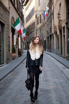 I'd like to be standing on a street in Italy wearing a big furry shawl & holding a Chloe bag.  That'd be ok with me!