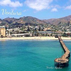 Birds eye view✯  Ventura Pier, Ventura, CA  Image by www.instagram.com/yoshie_love805