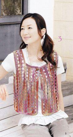 Summer Women Crochet Vest Pattern  Japanese by DotsStripes on Etsy, $2.50
