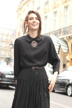 #RubyAldridge #model #beauty #dress #black #LBD #vintage #fashion #mode #moda #women #paris #look #streetstyle #streetview #street #style #offcatwalk on #sophiemhabille