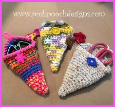 Posh Pooch Designs Dog Clothes: Winner, Winner.... And A free Crochet Pattern - Scissors Case