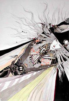 「彩」 by Yoshitaka Amano http://en.wikipedia.org/wiki/Yoshitaka_Amano