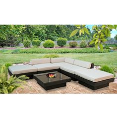 Laguna Collection 6 Piece Outdoor Lounge Set By Modway