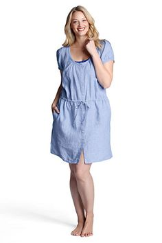Womens Linen Cover-up Dress from Lands End