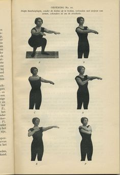Exercise number 10. From My system for woman by J. P. M Muller, 1931. Mijn systeem voor vrouwen door J. P. M Muller.
