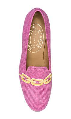 1e75b812e83 Our Links slipper features a Fuchsia Linen Upper with a Fuchsia Linen  Self-Welt Trim