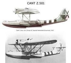 CANT Z.501 Sea Plane, Float Plane, Flying Ship, Flying Boat, Ww2 Aircraft, Military Aircraft, Ww2 Planes, Aviation Art, Cutaway