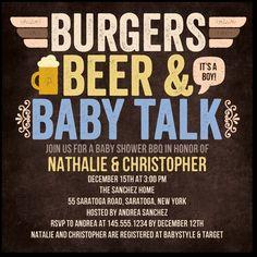 Burgers Beer n' Baby: Cute baby shower idea