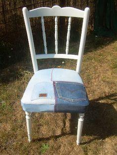 silla setentera con vaqueros ochenteros