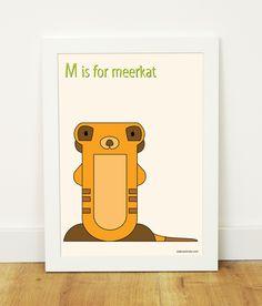 """M is for meerkat"" poster"