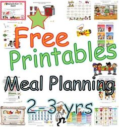Summary meal plans for children based on USDA My Plate Food Guidelines.  Meal plans designed to help younger children two to three years old eat a well balanced meals with proper portions from each of the food groups.