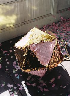 Pink and Gold Pinata