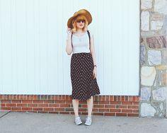 Forever 21 skirt, Skechers shoes
