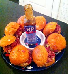 Corned Beef Sliders with HP aioli