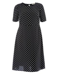 Polka dot dress in Black / White designed by Manon Baptiste