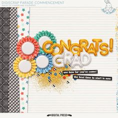 Quality DigiScrap Freebies: Commencement mini kit freebie from Hat of Bunny