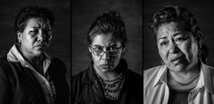 MEXICO JULY 2016 Three of the 11 women who sought help from international human rights officials after they were sexually tortured by Mexican police officers in 2006. From left: Yolanda Muñoz Diosdada, Mariana Selvas Gómez and Maria Patricia Romero Hernández. Photographs by Daniel Berehulak for The New York Times
