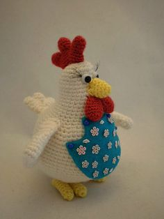 Gallina, Gallo Amigurumi, gallo tejido a crochet