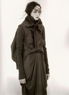 Rick Owens Winter 2007 Photographer: Andreas SjödinModel: Angelika Kocheva