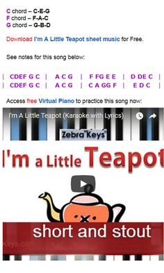 Easy Piano Songs, Kids Songs, Beginner Piano Lessons, Finger Exercises, Free Sheet Music, The Black Keys, Music For Kids, Learn To Read, Nursery Rhymes