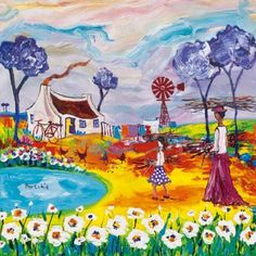 Small Prints A range of small sized images, printed in full colour by lithographic process. South Africa Art, African Art Paintings, South African Artists, Famous Artists, Fiber Art, Art History, Graphic Art, Art Drawings, Abstract Art