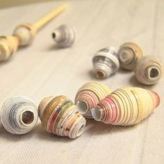 paper beads #beads #paper