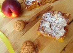 Peach and amaretti/amaretto tart/cake - Italian Recipe Italian Pastries, Sweet Pastries, Sweet Light, Chiffon Cake, Fruit Recipes, Dessert Bars, Italian Recipes, Food To Make, Good Food