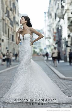 Bianca Balti Stuns in Wedding Gowns for Alessandro Angelozzi Couture 2015 Bridal