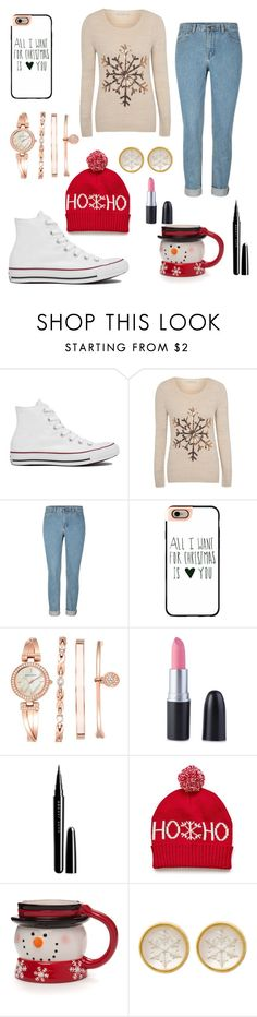 """""""Let it Snow"""" by fadedlipstick on Polyvore featuring Converse, George, Casetify, Anne Klein and Marc Jacobs"""