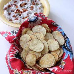 Microwave Potato Chips from Living Well Kitchen --- this is genius!