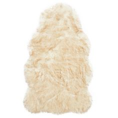 Alexander Home Faux Fur Two-toned Textured Shag Rug - 3' x 5' (Ivory/Beige) - $70.12.
