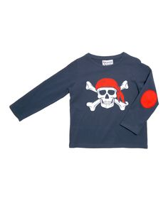 Navy Pirate Long-Sleeve Tee - Toddler & Boys | zulily