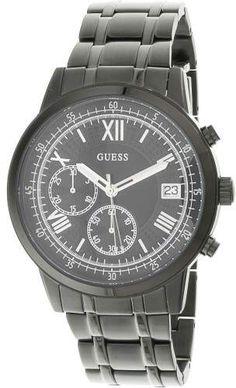 274d3d9ec8 Guess Men s U1001G3 Black Stainless-Steel Japanese Quartz Fashion Watch