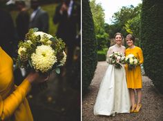 A Wonderful 1950s and '60s Inspired Mustard Yellow Autumn Wedding