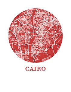 Cairo Karte Grafik Karte-City-Poster von OMaps auf Etsy