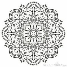 Drawing Doodle Flower Mandala Doodle - Doodle is Art Mandala Doodle, Mandala Art, Croquis Mandala, Mandalas Drawing, Mandala Coloring Pages, Mandala Pattern, Colouring Pages, Doodle 2, Zentangles