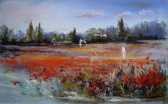 Artwork >> Breton Michel >> field of poppies