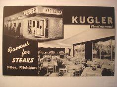 Vintage Postcard Niles, MI Kugler Restaurant