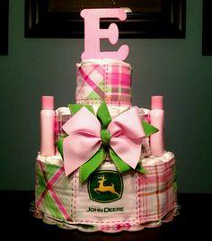 John deer diaper cake