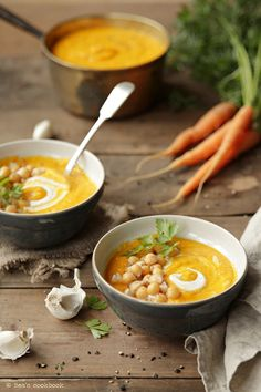 Carrot soup, food photography, food styling by Beata Lubas