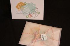 Set of 4 Handstamped Cards by ladystamp on Etsy
