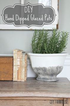 DIY hand dipped pot-city farmhouse- FULL Tutorial.