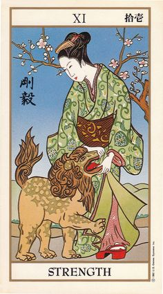Strength - Ukiyoe Tarot
