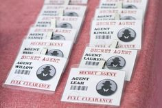 Secret Agent Party....I would have LOVED this as a kid! Who am I kidding, I would still love this haha