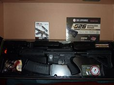 Up for sale is a LIKE NEW G&G G26 pneumatic blowback airsoft AEG. Adult owned from a personal collection. Comes with brochures, manual, magazine, cleaning rod and BBs in it's original box. | eBay!